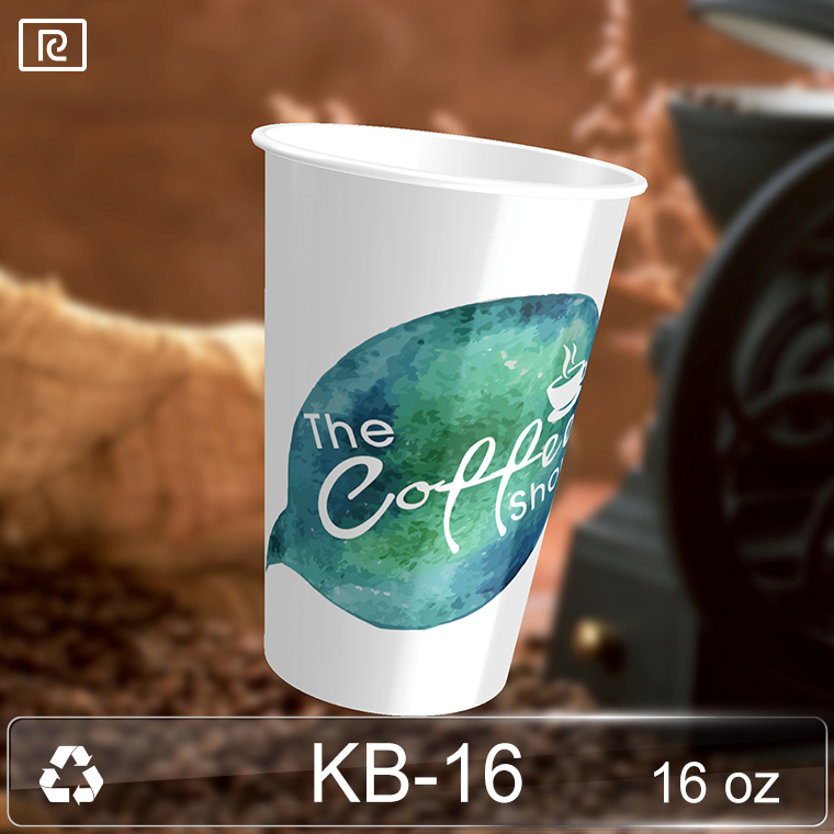 K-KA480-P 16oz disposable high quality artistic beverage coffee tea paper cup