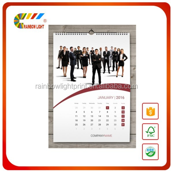 2017 Organiser Paper Calendar digital wall calendar With manufacturers