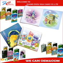 Customize colorful professional children book printing, cardboard coloring book printing manufacturer in China