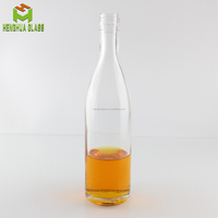 High quality 8oz 250ml cylinder glass tequila bottle for liquor spirit alcohol with tamper evident screw cap