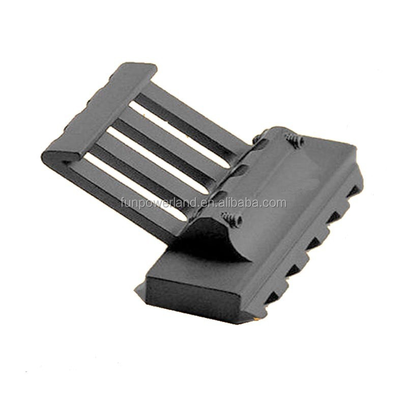 Scope Mount Black Extra Low Profile Offset fit any Picatinny Quad Rail 20mm