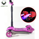 High quality foldable large wheel kick scooter electric with led lights