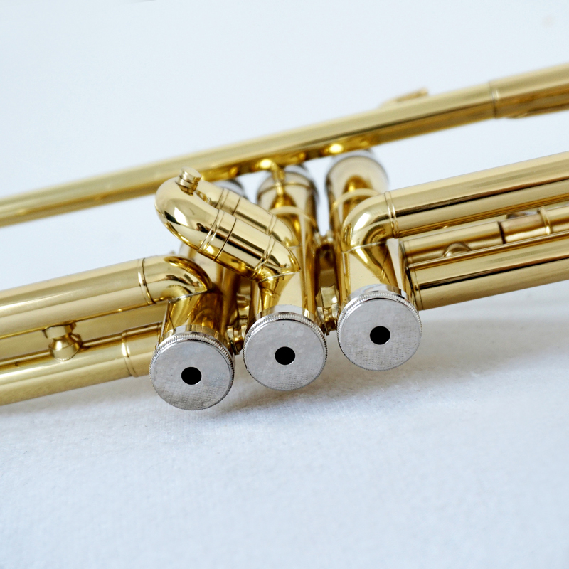 wholesale price custom aiersi brand Bb Tone Gold Lacquer Trumpet with case OEM brasswind musical instrument for sale