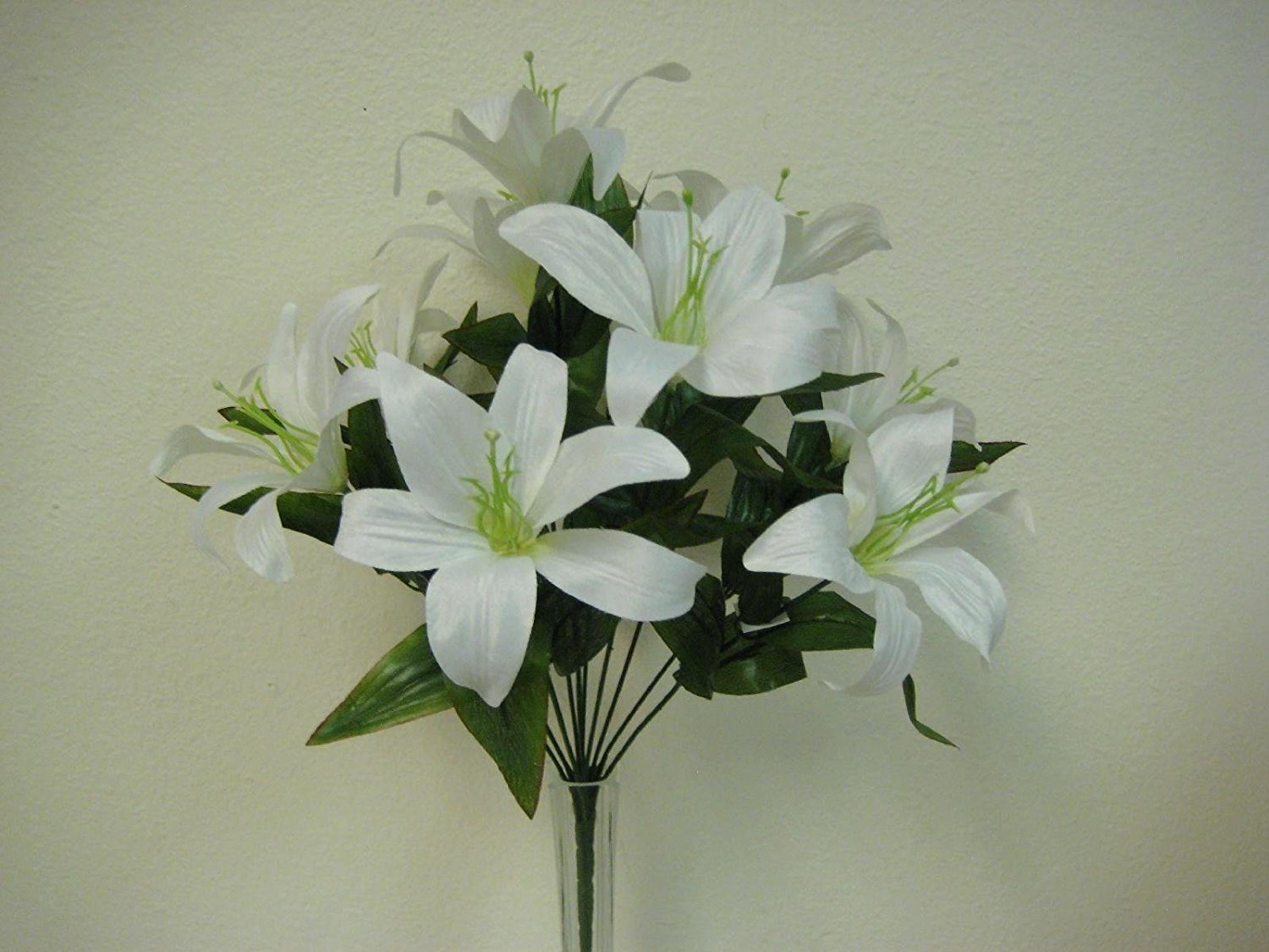 Cheap artificial tiger lily find artificial tiger lily deals on get quotations 2 bushes cream tiger lily artificial silk flowers 1 x 10 bouquet 4069cr izmirmasajfo