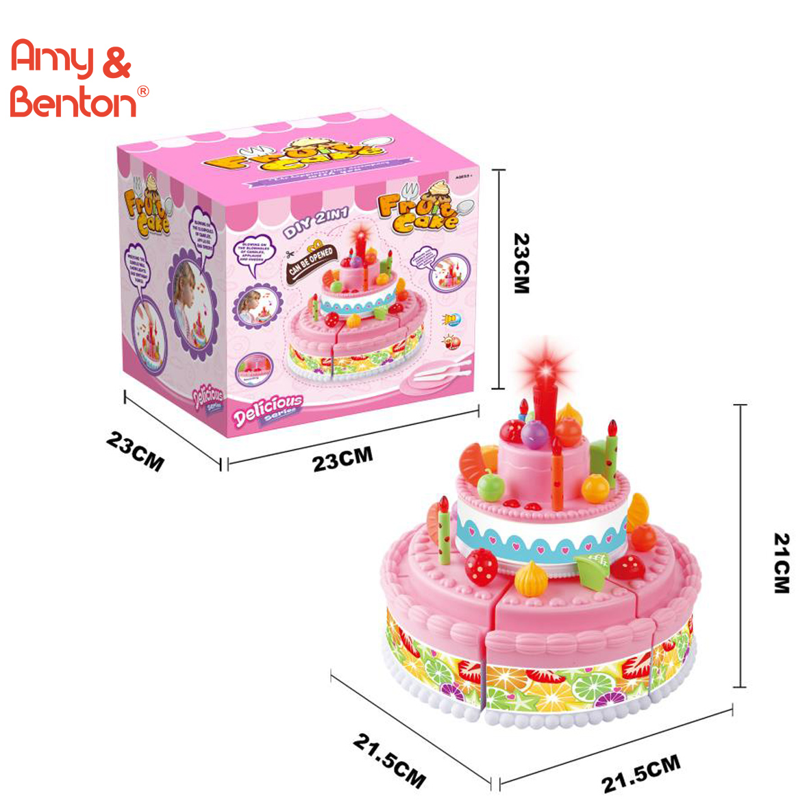 Astonishing Kids Birthday Cake Toy For Baby Toddlers With Counting Candles Funny Birthday Cards Online Aeocydamsfinfo