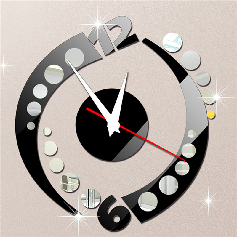 stickers muraux horloge geante sticker mural horloge g ante gros chiffres design m canisme. Black Bedroom Furniture Sets. Home Design Ideas