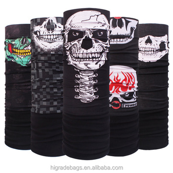 Latest FASHION scarf headwear multifunctional black skull fleece bandana