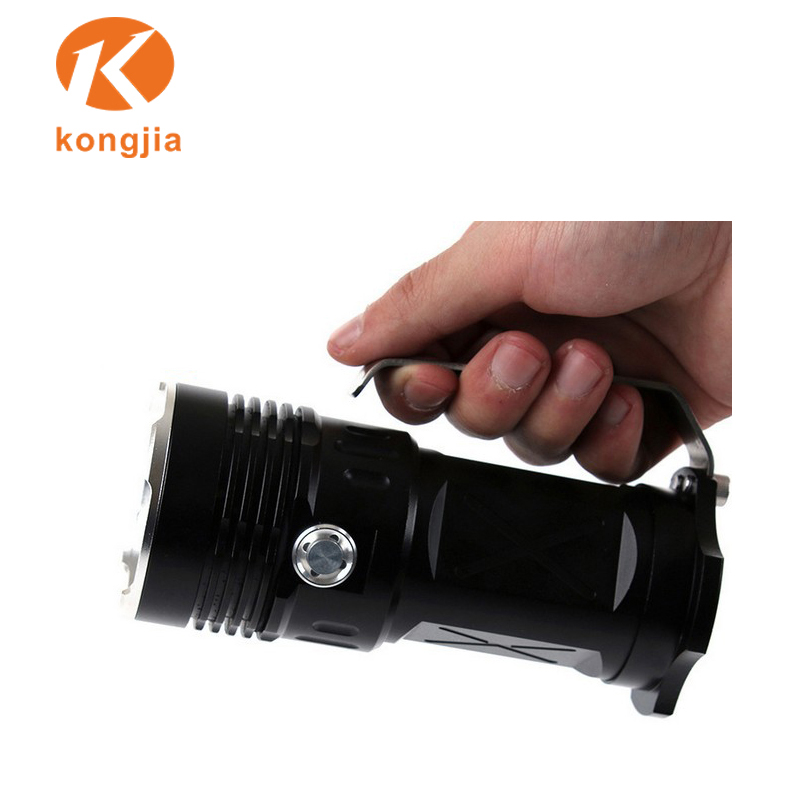 GRANDE TAILLE Hand Held DEL rechargeable lumineux lampe de poche