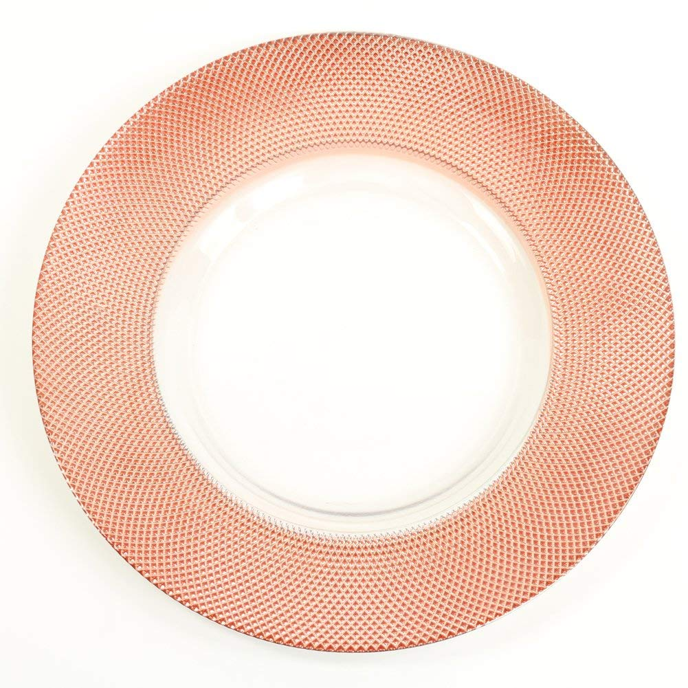 awesome Cheap Glass Plates In Bulk Part - 10: Get Quotations · Koyal Wholesale Bulk Diamond Glass Charger Plates, Set of  4, Rose Gold