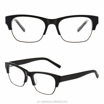 a14b7b05f9 acetate metal stock eyewear frame 2017 Men half rim fashion metal optical  eyeglasses reading glasses