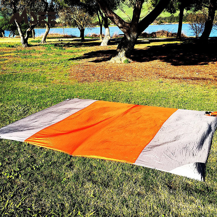 China outdoor product  Msee sand-less sand mat for folding plasti beach mat blanket