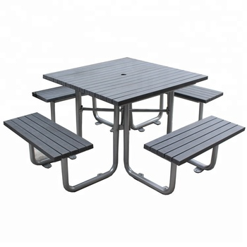 Tremendous Recycled Plastic Wood Steel Frame Picnic Table Bench Settings Buy Picnic Settings Picnic Table Set Wooden Picnic Table Product On Alibaba Com Squirreltailoven Fun Painted Chair Ideas Images Squirreltailovenorg