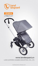 Grey fashional pushchairs can see baby, prams with hard resistence frams, foldable to carry any where, outdoor light weight pram