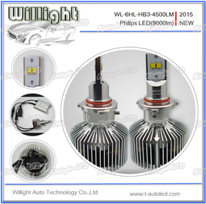 2015 car front led lights 45W 9000LM D1S D2S D3S D4S 9005 9006 H8 H9 H11 H7  H4 led headlight
