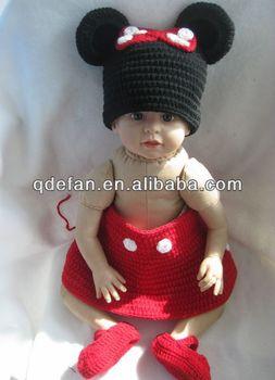 Hand Made Beautiful Baby Girl Crochet Dress Newborn Photo Props ... 48565d67f7f9
