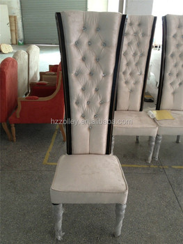 Luxury Wedding Event Chair Wooden High Back Dining Room Chairs For Hotel