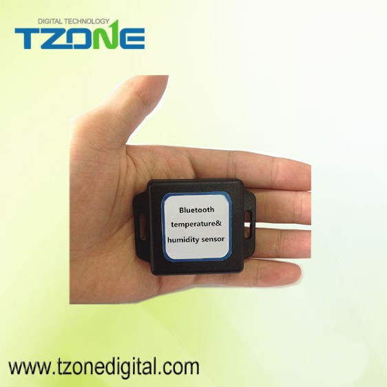 Water proof temperature tag data logger read by bluetooth on cellphone