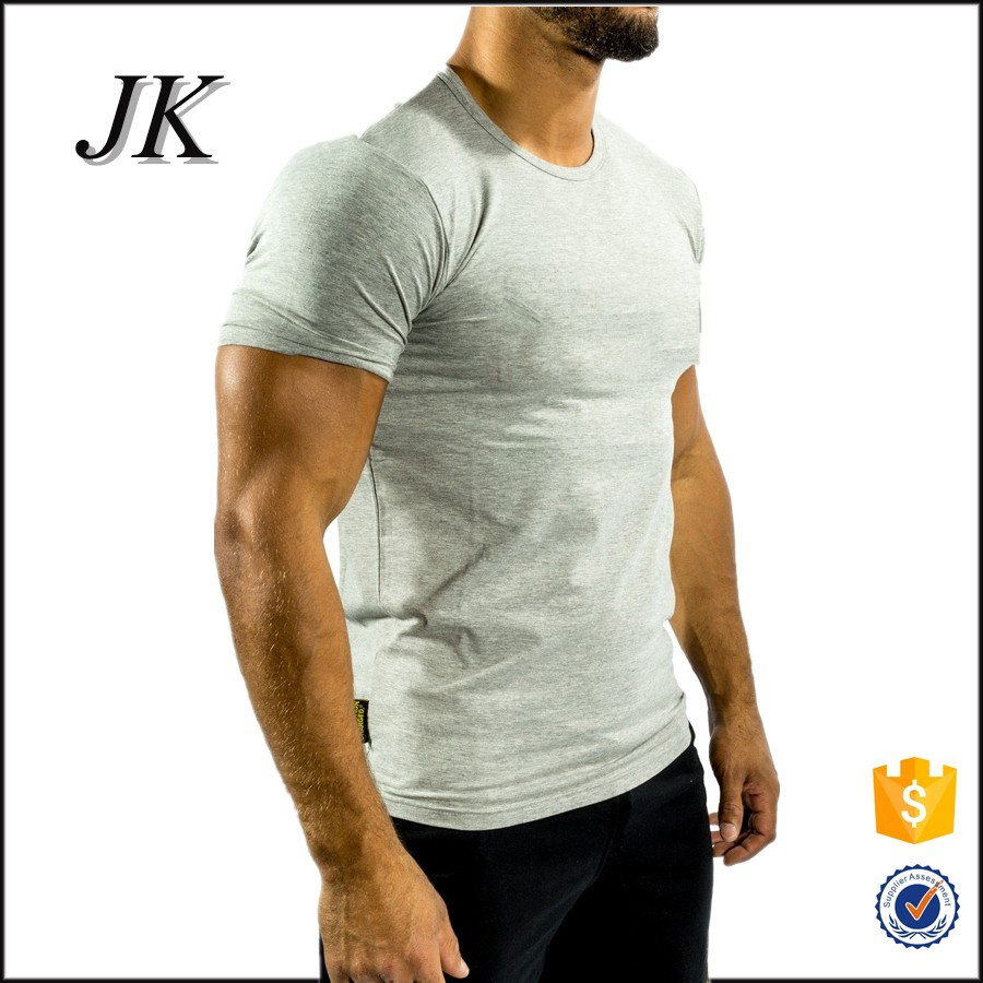 Guangzhou 94 cotton 6 elastane gym custom mens tshirt for Gym printed t shirts