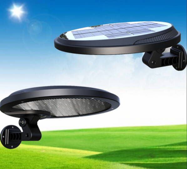Outdoor Solar Powered Heat Panel Wall Lamp with Built-in 4400 mAh Li-ion Battery