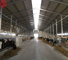 CE standard economical steel structure prefabricated dairy cow shed/cattle farm house