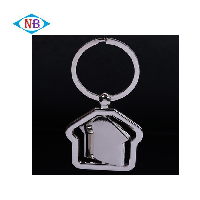 Factory direct supply custom wholesale rotating metal house keychain