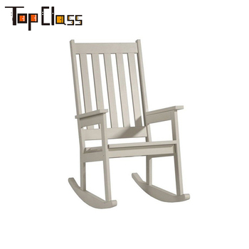 Zl044 Eco Friendly White Kid Room Used Wooden Rocking Chair