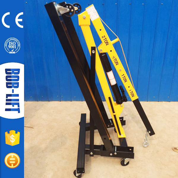 Workshop Small Manual Hydraulic Mobile Floor Crane with 6 Wheels