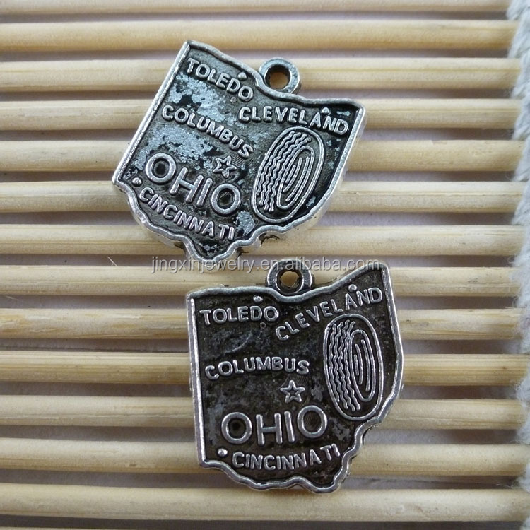 China Wholesale OHIO Map Pendants 18*20mm More fashion types support