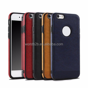 Ultra Slim Thin PU Leather Surface Flex TPU Slim Bumper Protect Case Cover for iPhone 6/7/7 plus