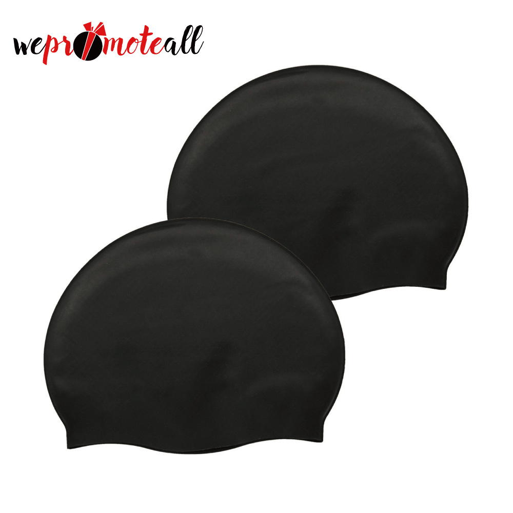 Wrinkle Free Sport Long Hair Solid Silicone Swim Cap For Women