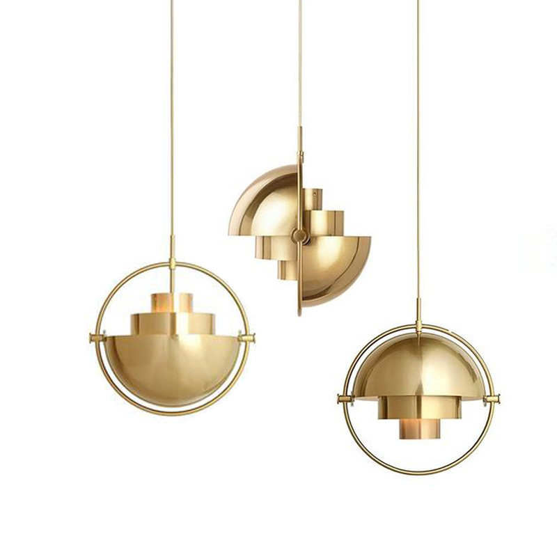 Nordic post modern metal gold brass hanging lamp chandelier pendant <strong>light</strong> for home decor