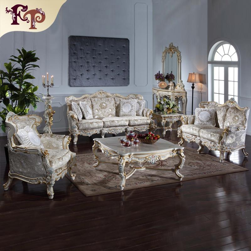 cl sicos muebles de la sala a mano tallada conjunto juego On conjunto de muebles de sala