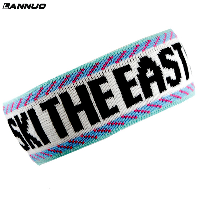 High quality 3d embroidery plain black bulk cheap sport headband