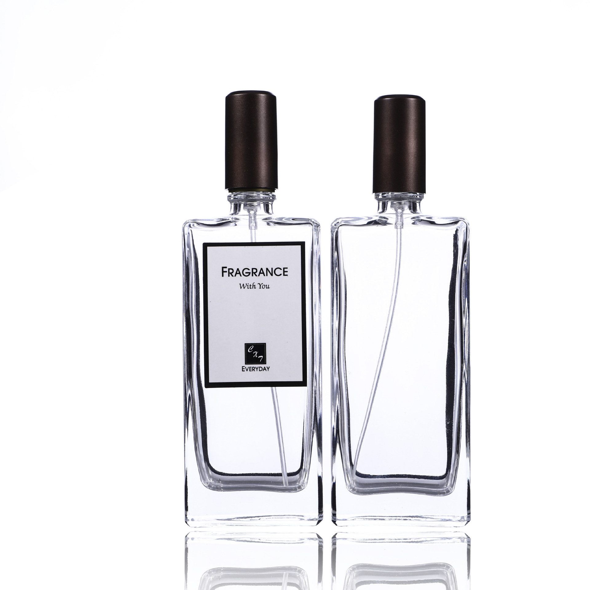 Wholesale <strong>empty</strong> 50ml glass refill crystal <strong>perfume</strong> <strong>bottle</strong>