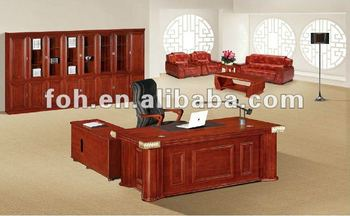 Rouge en bois directeur bureau mobilier de bureau gestionnaire