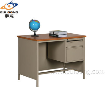 Commercial Furniture Steel Office Desk Design One Side Two Drawer Computer  Table