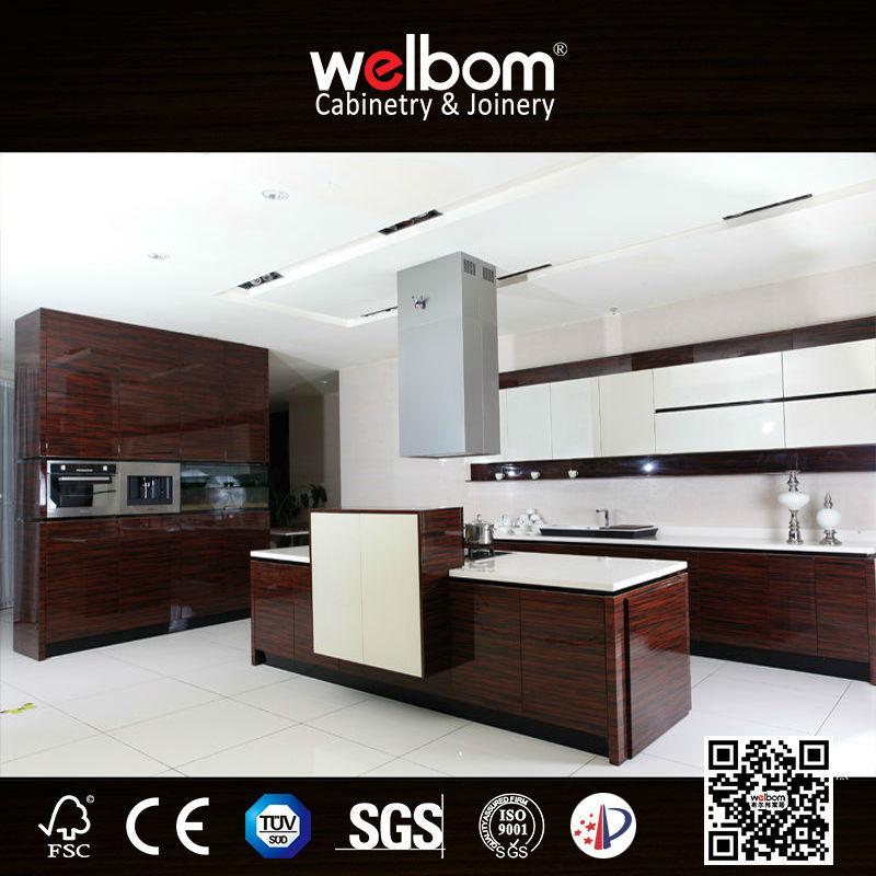 High Gloss Wood Veneer Kitchen Cabinet, High Gloss Wood Veneer Kitchen  Cabinet Suppliers And Manufacturers At Alibaba.com