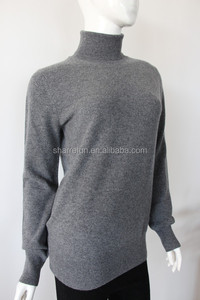 Manufacturer 12gg roll neck flat knitted mongolia 100%pure cashmere sweater