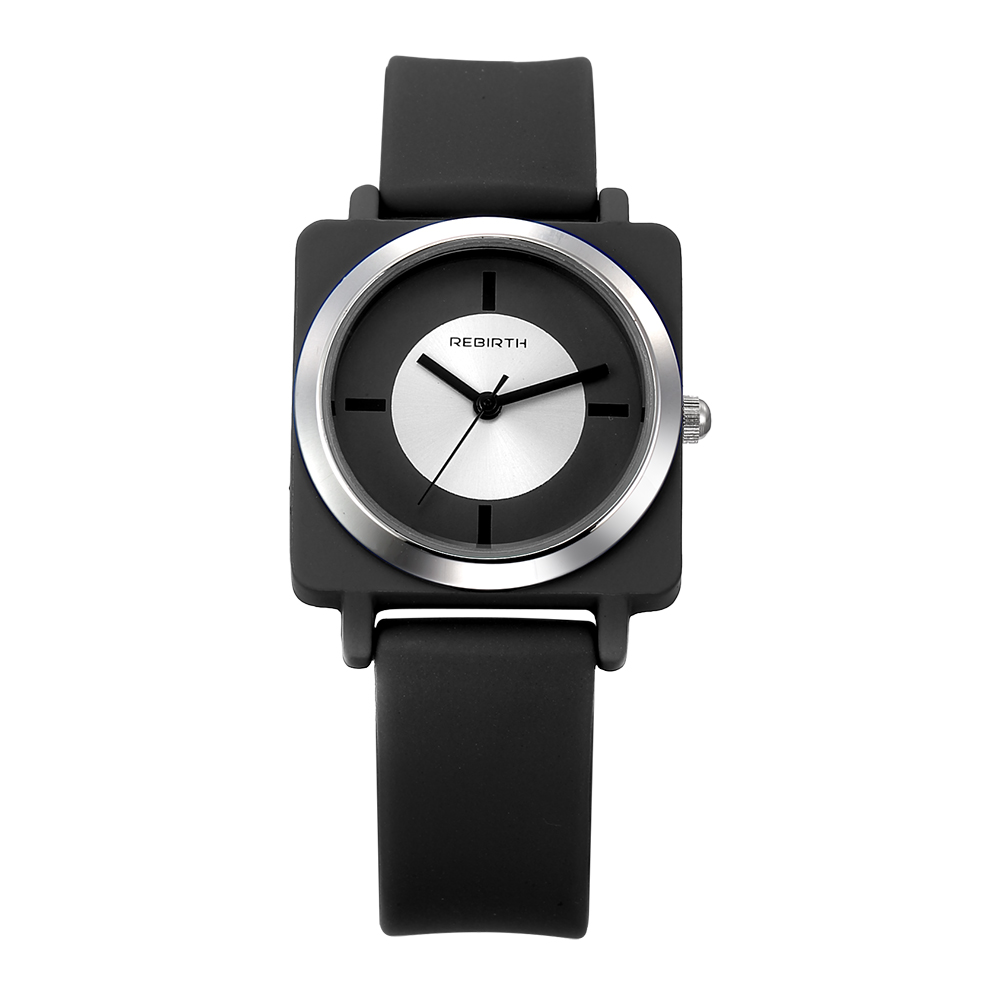 REBIRTH RE060 Color Matching Nylon Band Women Watch Simple Wristwatch For Girl Hardlex Analog Girl's Watches
