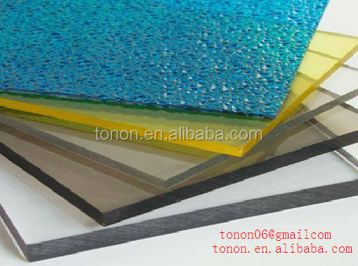 2 thick embossed polycarbonate sheet for roofing cover pool