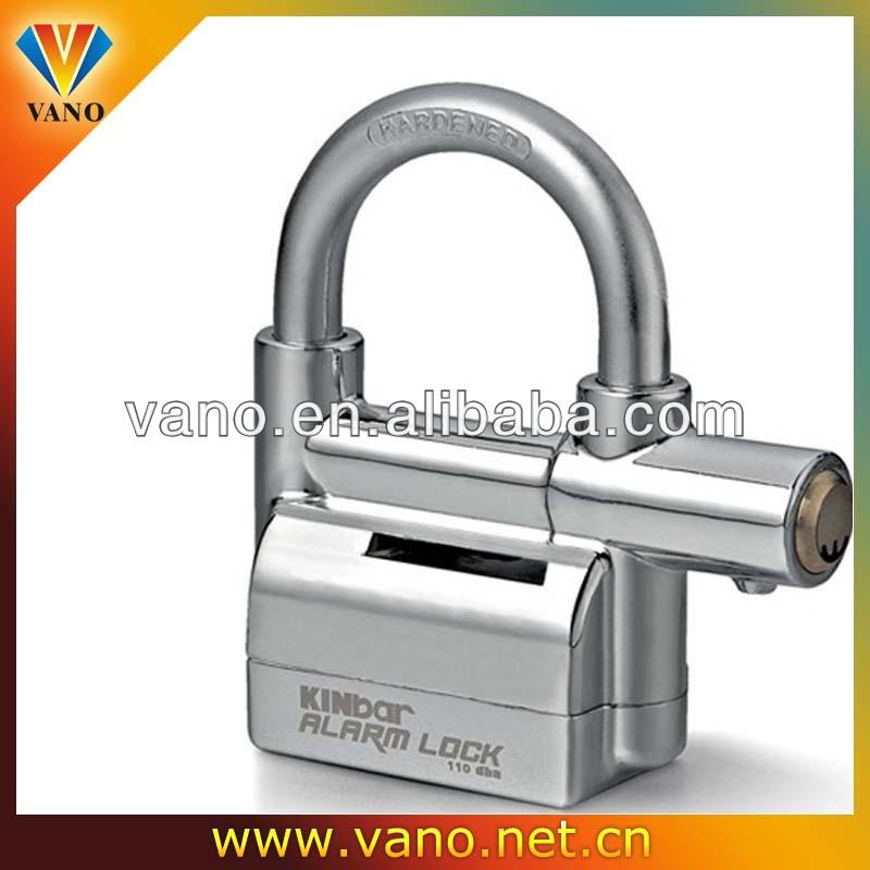 China Manufacturer Sliver / Black Kinbar Bicycle Alarm Lock With ...