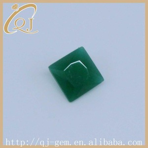 Loose Gemstone 2*2mm Square Cut Emerald Green Malay Jade Glass Stone