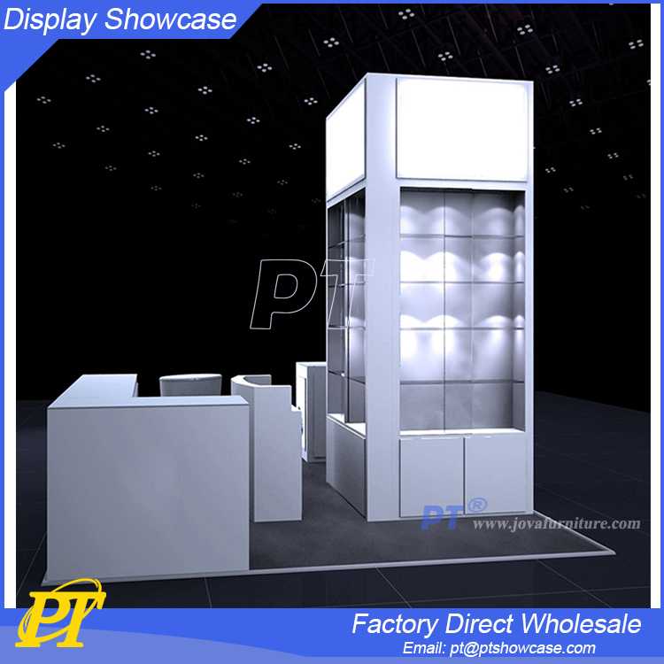 Cell phones display vitrine retail showcase for electronics store showroom display