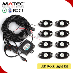 led rgb tail light 4pods 6 pod 8 pods 12 pod marine boat deck light waterproof IP68 RGB led rock light with bluetooth controller