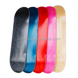 Original hard rock Canadian maple wood skateboard decks from China skateboard supplier