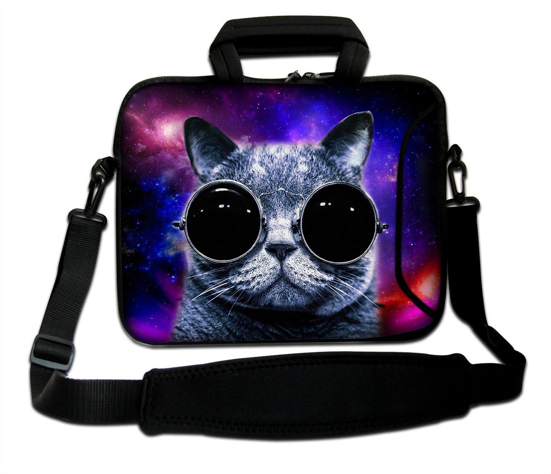 """Goldwheat 17 17.3 inch Laptop Bag Sleeve Bag with Side Pocket and Removable Shoulder Strap Messenger Bag Briefcase for 17"""" 17.3"""" Laptop/ Tablet/ Macbook/ Notebook"""