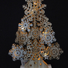 New design 30cm handmade handicrafts handmade LED light wooden crafts Christmas tree lights/lit wooden Christmas tree