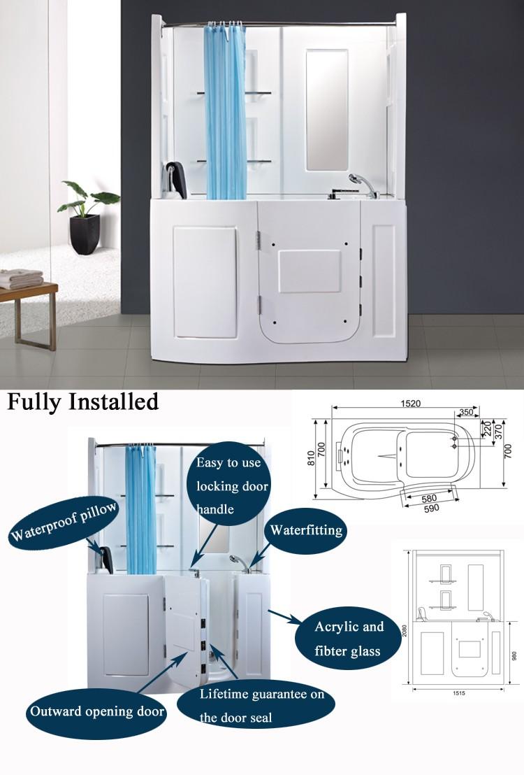 hs b1106b small corner bath combo walk in bathtub with shower hs b1106b small corner bath combo walk in bathtub with shower