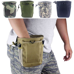 Military ipsc Molle Belt Tactical drawstring Magazine Dump Ammo Pouch Drop Utility Bag