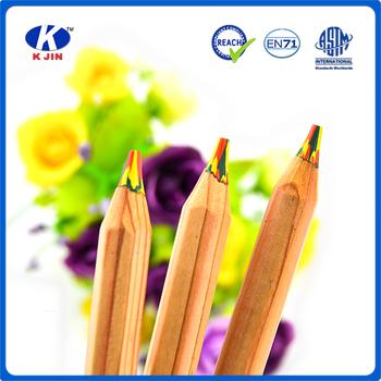 7inch Natural Multi Pencil Color Rainbow Lead 3 In 1 Pencil